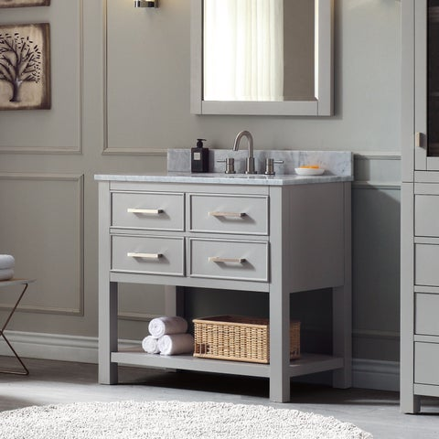 Avanity Brooks 37-inch Vanity Combo in Chilled Gray Finish