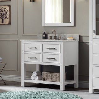 Avanity Brooks 37-inch White Vanity Combo with Top and Sink