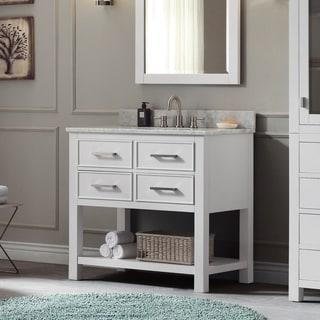 Avanity Brooks 37-inch Vanity Combo in White Finish