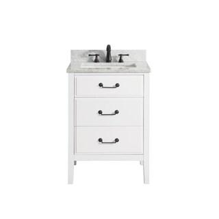 Avanity Delano 25-inch Vanity Combo in White Finish
