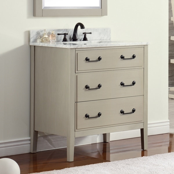 Avanity Delano 31-inch Taupe Glaze Vanity Combo with Top and Sink