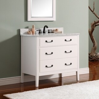 Avanity Delano 31-inch White Vanity Combo with Top and Sink