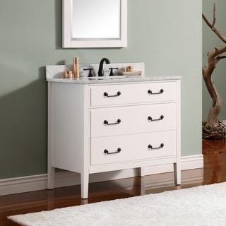 Avanity Delano 31 Inch White Finish Vanity Combo