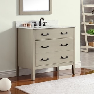 Avanity Delano 37-inch Taupe Glaze Vanity Combo with Top and Sink