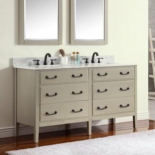 Avanity Delano 61-inch Double Sink Taupe Glaze Vanity Combo