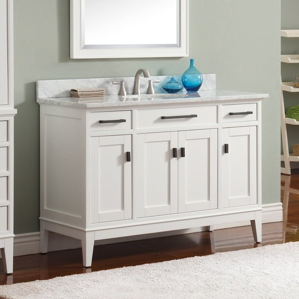 Shop Avanity Madison 49-inch Vanity Combo in White with ...