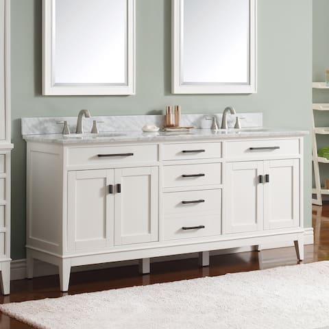 Avanity Madison Double Sink Vanity Combo In White Finish