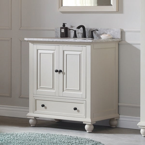 Avanity Thompson 31-inch Vanity Combo in French White finish. Opens flyout.