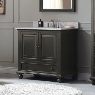 Avanity Thompson 37 Inch Vanity Combo In Charcoal Glaze Finish