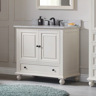 Avanity Thompson 37 Inch Vanity Combo In French White Finish