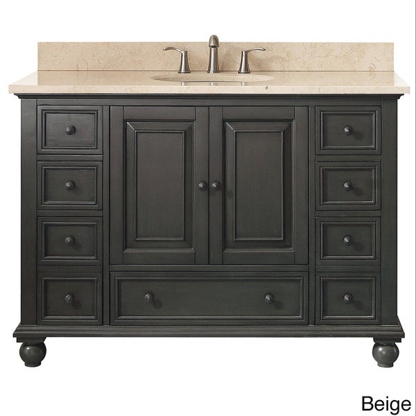 Avanity Thompson 49 Inch Vanity Combo In Charcoal Glaze Finish   Free  Shipping Today   Overstock.com   17977359
