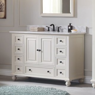Avanity Thompson 49-inch Vanity Combo in French White Finish