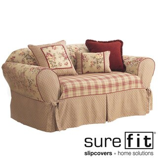 Sure Fit Lexington Washable Loveseat Slipcover in Taupe (As Is Item)
