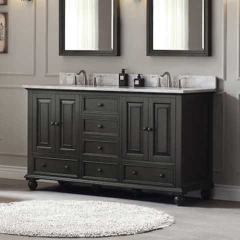 Avanity Thompson 61-inch Double Sink Vanity Combo in Charcoal Glaze finish