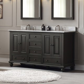 Avanity Thompson 61-inch Double Sink Vanity Combo in Charcoal Glaze finish