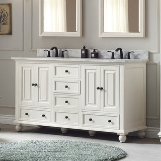 Avanity Thompson 61-inch Double Sink Vanity Combo in French White finish