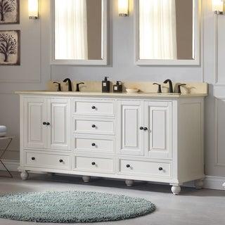 Avanity Thompson 73-inch Double Sink Vanity Combo in Charcoal Glaze finish