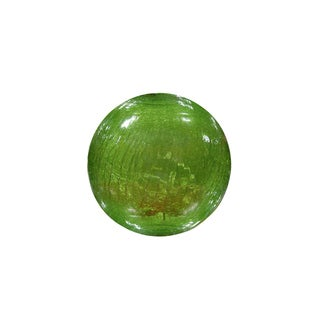 Green Crackled Glass Ball with LED Lights Small