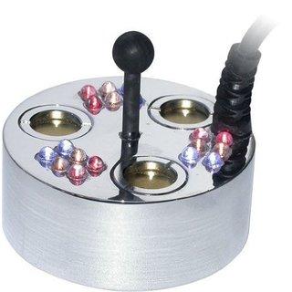 3 Jet Pond Fogger, 18 LED Lights, Transformermer and Ring