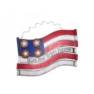 American Flag 18-inch Metal Wall Decor