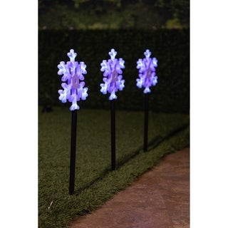 Snowflake Flashing Garden LED Stakes (Set of 3)