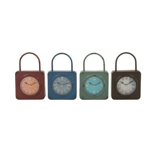 Metal Table Clock 4 Assorted