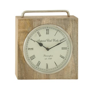 Wood Metal Table Clock - Thumbnail 0
