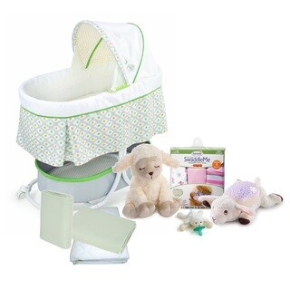 Summer Infant Complete Sweeter Dreams Bassinet and Sleep Solutions Set in Little Lamb