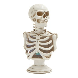 Benzara LED Light Skeleton Bust Figurine