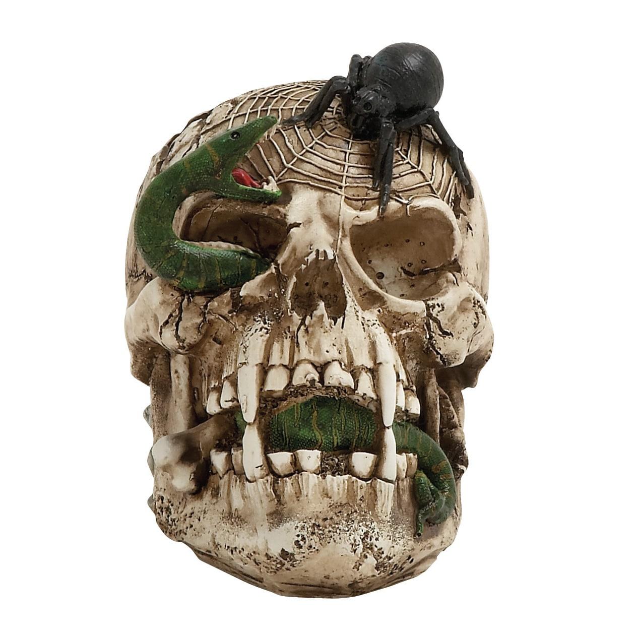 Benzara Skull Decor Figurine (Astonishing Skull Decor), B...