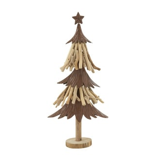 "Wood Metal Xmas Tree 10""W, 23""H"