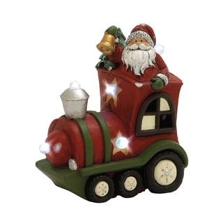 LED Santa with Train Decor