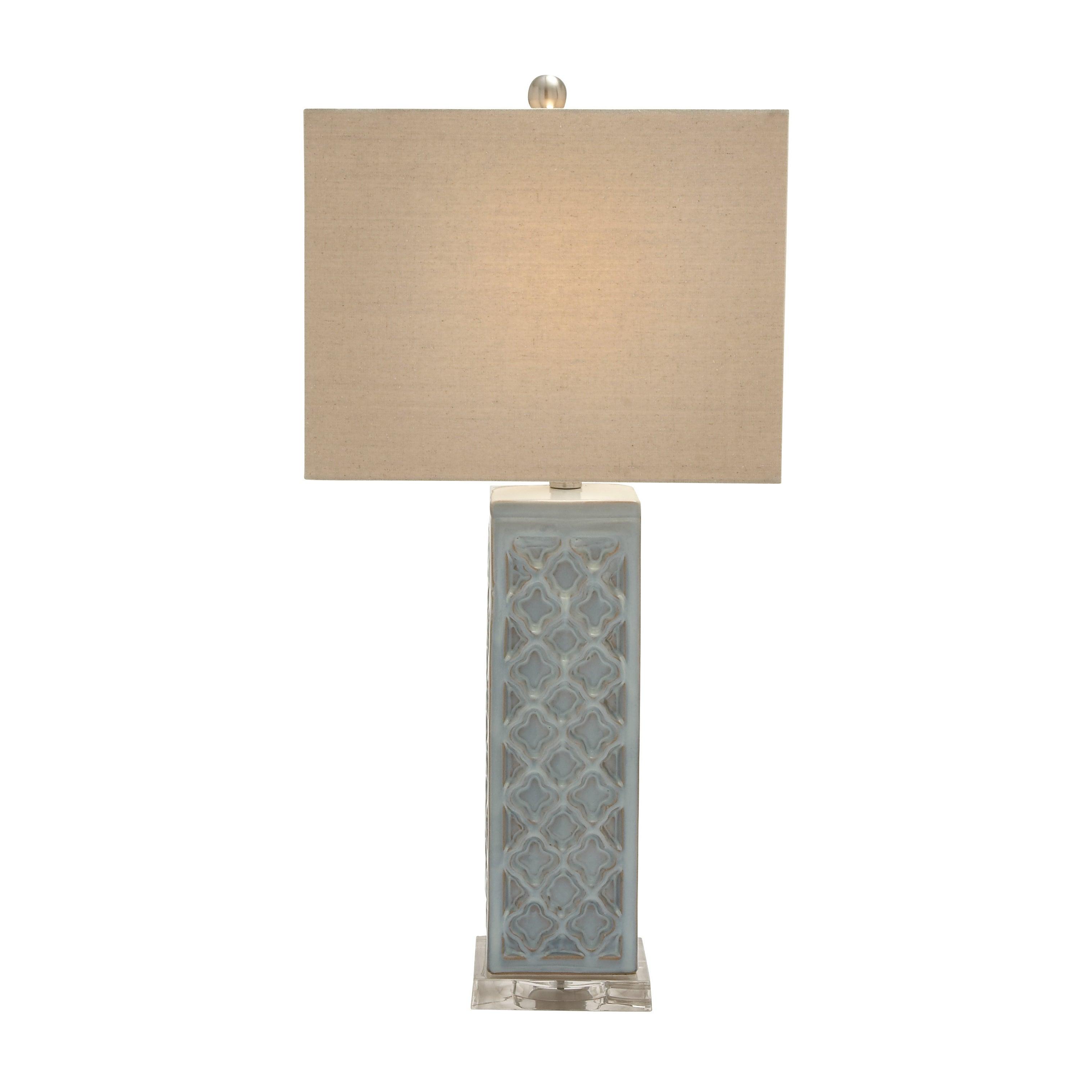 "Benzara Ceramic Acrylic Table Lamp (29""H Ceramic Acrylic ..."