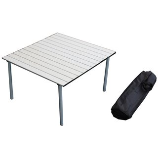 Silver Color Low Aluminum Portable Table in a Bag