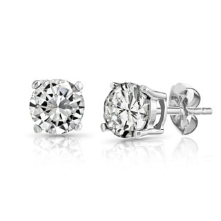 Pori 14K Gold White Topaz Stud Earrings