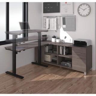 Bestar Pro-Linea L-Desk including Electric Height Adjustable Table