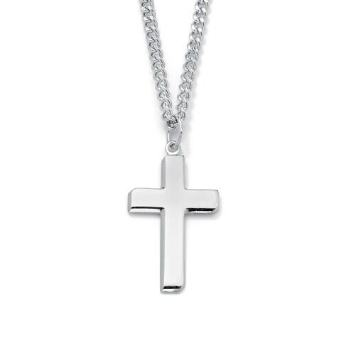 Sterling Silver Men's Cross Pendant Necklace