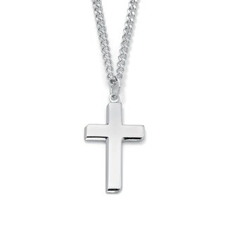 Sterling Silver Men's Cross Pendant Necklace