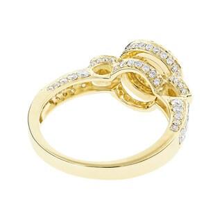 Luxurman 14k Gold 1 1/3ct TDW Multi-circle Diamond Engagement Ring (G-H, VS1-VS2)