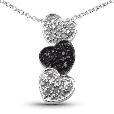 Olivia Leone Sterling Silver 2/5ct TDW White Diamond Pendant