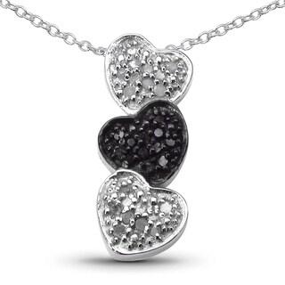 Olivia Leone Sterling Silver 2/5ct TDW White Diamond Pendant (I-J, I2-I3)