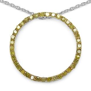 Olivia Leone Sterling Silver 1/2ct TDW White Diamond Pendant (I-J, I2-I3)