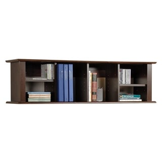 Everett Espresso Wall Mounted Desk Hutch