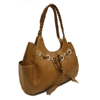 Piel Leather Braided Hobo Handbag