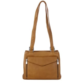 Piel Leather Double Compartment Shoulder Handbag