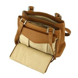 Piel Leather Double Compartment Shoulder Handbag