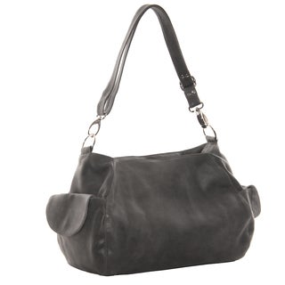 Piel Leather Top-Zip Shoulder Bag/ Crossbody Hobo Handbag