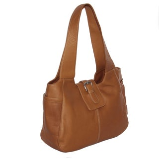 Piel Leather Small Flap Hobo Handbag