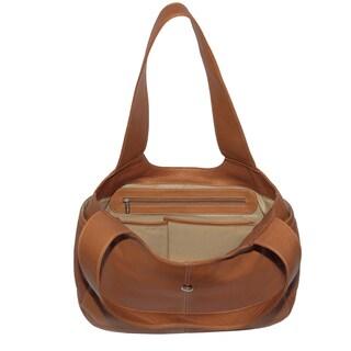 Piel Leather Small Flap Hobo Handbag