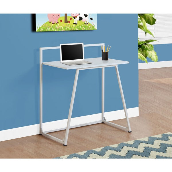 "White Metal Computer Desk - 32"""